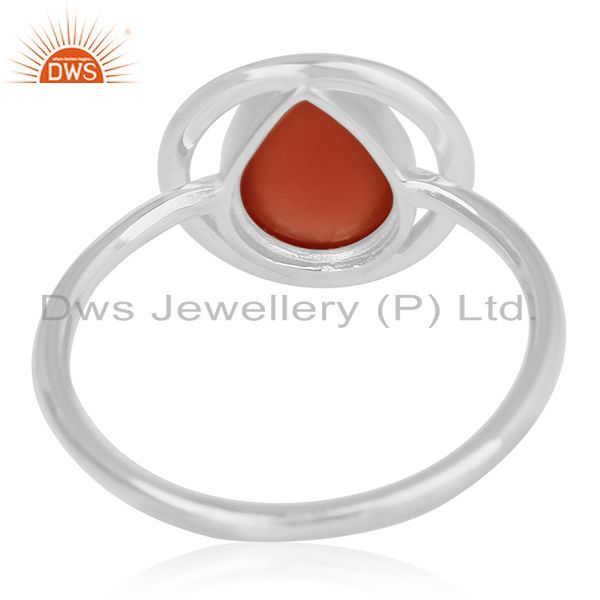Wholesalers Carnelian Chalcedony Gemstone 925 Silver Handmade Ring Wholesalers