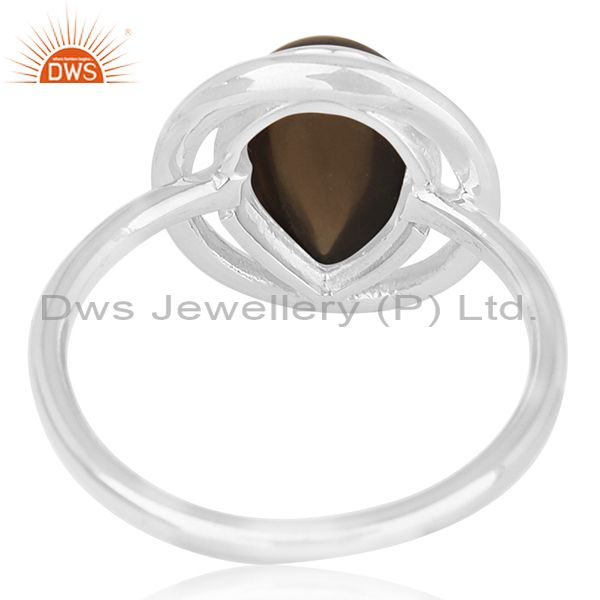 Wholesalers Smoky Quartz Sterling Silver Ring Manufacturer of Custom Jewelry