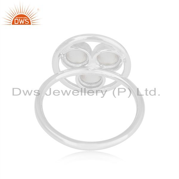 Wholesalers Bezel Set Crystal Quartz 925 Sterling Silver Round Ring Manufacturer of Jewelry
