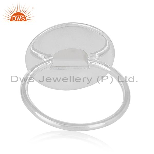 Wholesalers Plain 925 Sterling Silver Crystal Quartz Ring Manufacturer of Jewelry