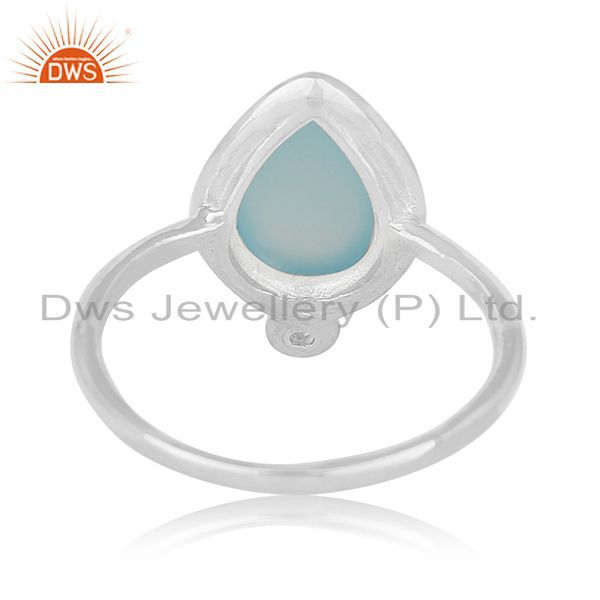Wholesalers Chalcedony Gemstone Sterling 925 Silver Ring Women Jewelry Wholesalers
