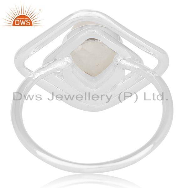 Wholesalers Designer 925 Sterling Silver Rainbow Moonstone Ring For Women Jewelry
