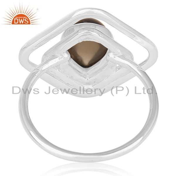 Wholesalers Smoky Quartz 925 Sterling Silver Gemstone Women Ring Jewelry Supplier