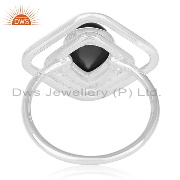 Wholesalers Black Onyx Gemstone 925 Sterling Silver Ring Jewelry Manufacturer