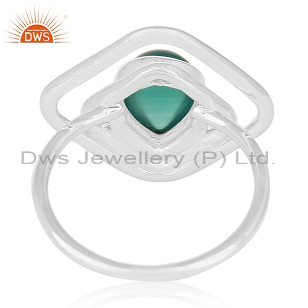 Wholesalers Green Onyx Gemstone 925 Sterling Silver New Design Ring Manufacturers