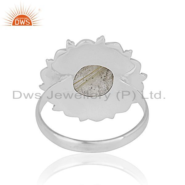 Wholesalers Handcrafted 925 Sterling Silver Golden Gemstone Custom Ring Jewelry Manufacturer