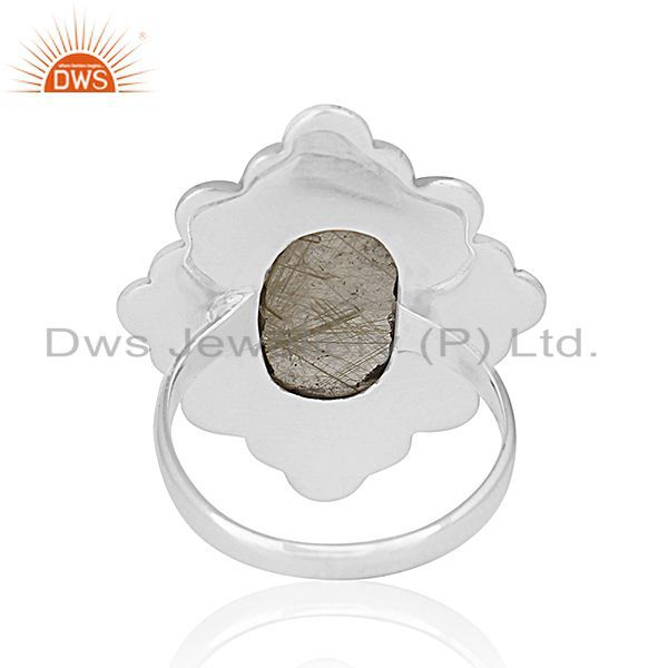 Wholesalers Golden Gemstone 925 Silver Ring Jewelry Manufacturer for Designer From India