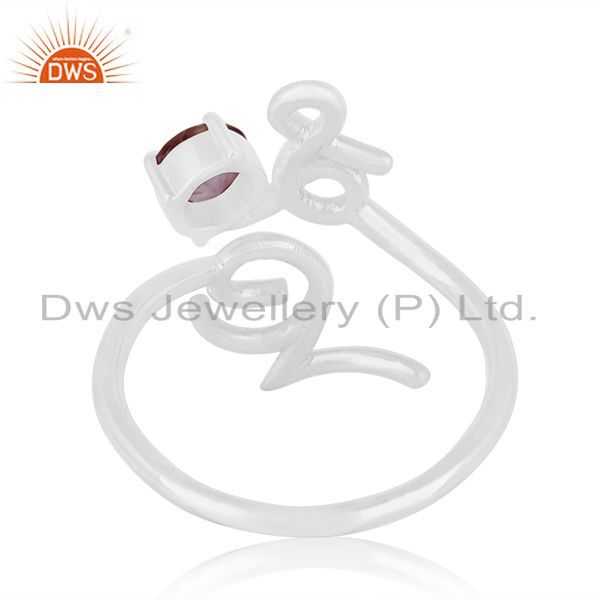 Wholesalers Custom Sterling Silver Love Initial Amethyst Gemstone Ring Manufacturer India