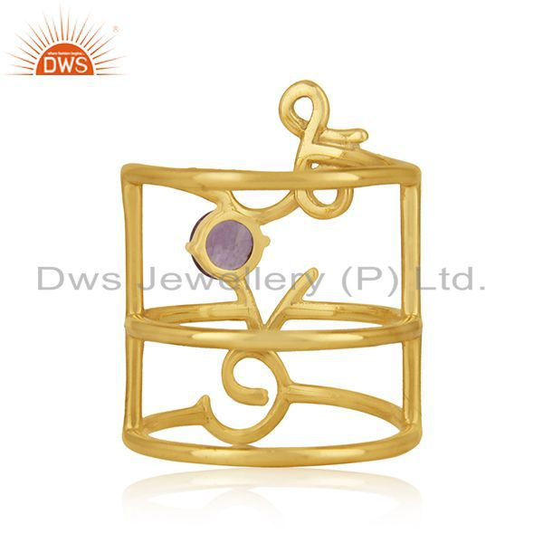 Wholesalers Gold Plated Sterling Silver Initial Love Customized Ring Manufacturer