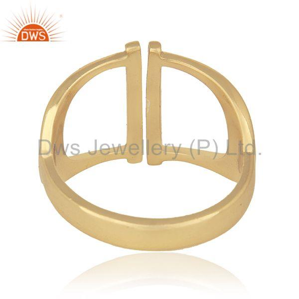 Wholesalers New Designer Sterling 92.5 Silver Gold Plated Ring Wholesale Wholesalers