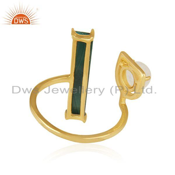 Wholesalers Gold Plated 925 Sterling Silver Multi Gemstone Ring Wholesale Wholesalers