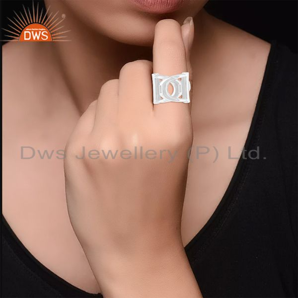 Wholesalers Solid 925 Sterling Silver Designer Unisex Ring Jewelry Manufacturer from India