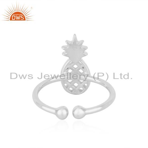 Wholesalers Wholesale Fine Silver Pineapple Design Adjustable Ring Jewelry