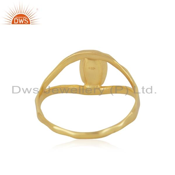 Wholesalers Handcrafted Gold Plated 925 Sterling Plain Silver Ring Manufacturer India
