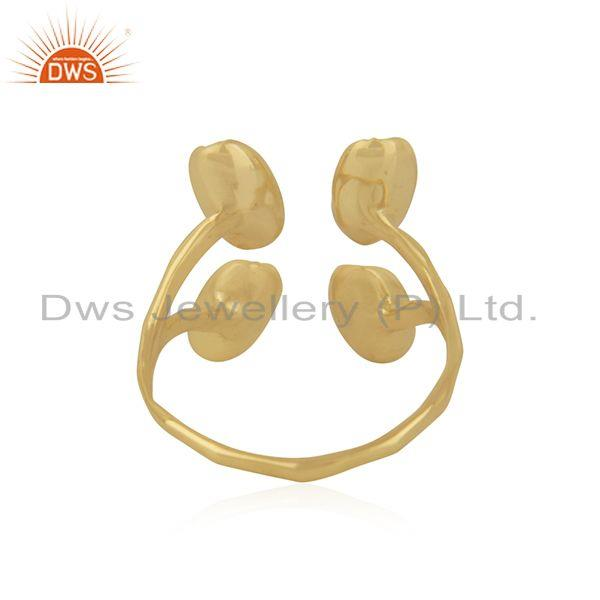 Wholesalers Gold Plated Handcrafted Brass Fashion Designer Ring Jewelry Manufacturer