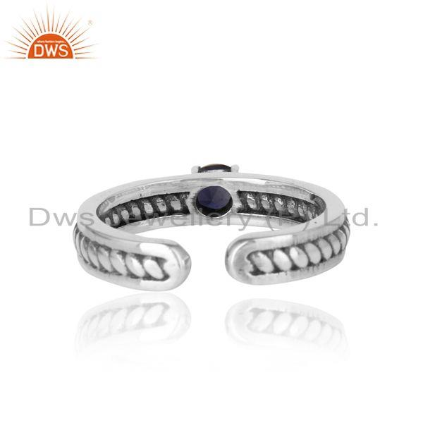 Exporter of Designer twisted ring in oxidized silver 925 and iolite