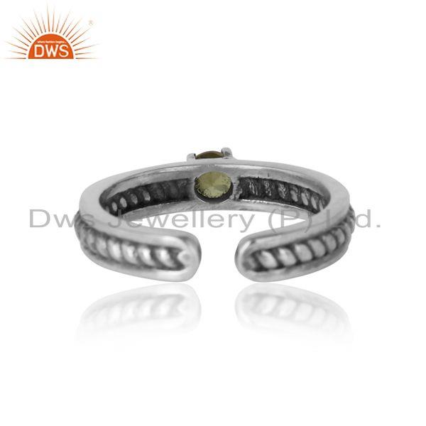 Exporter of Designer twisted ring in oxidized silver 925 and peridot