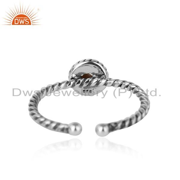 Exporter of Pearl twisted handmade designer ring in oxidized silver 925