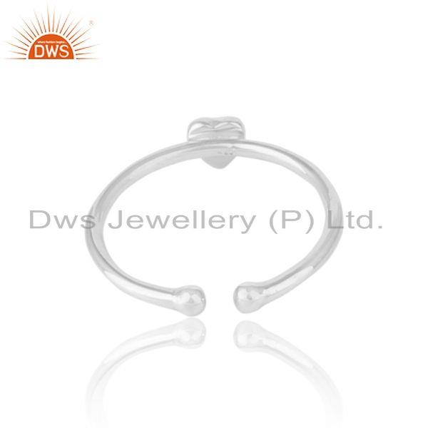 Exporter of Handmade dainty heart stackable ring in solid silver 925