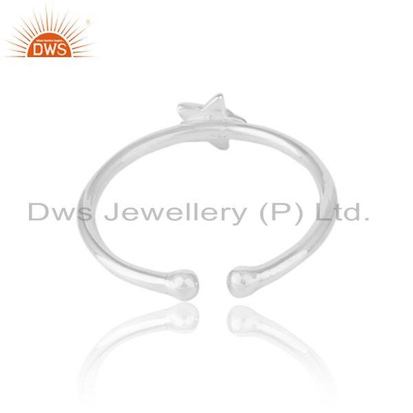 Exporter of Designer dainty star stackable ring in solid silver 925