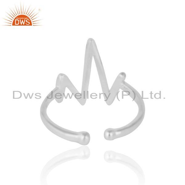 Exporter of Dainty designer vibration midi ring in silver 925