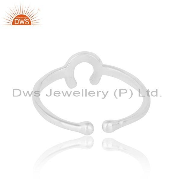 Exporter of Adjustable designer horseshoe midi ring in silver 925