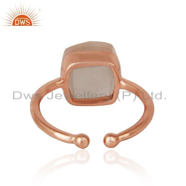 Exporter of Handmade solitaire ring in rose gold on silver 925 and rose quartz
