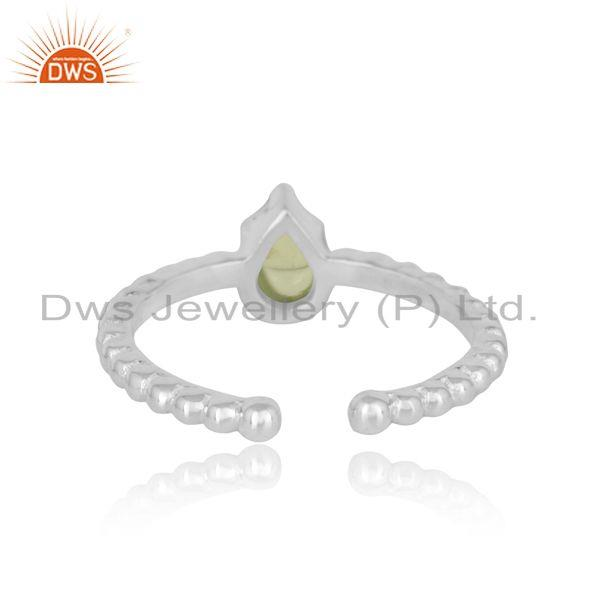 Exporter of Designer textured dainty sterling silver 925 ring with peridot