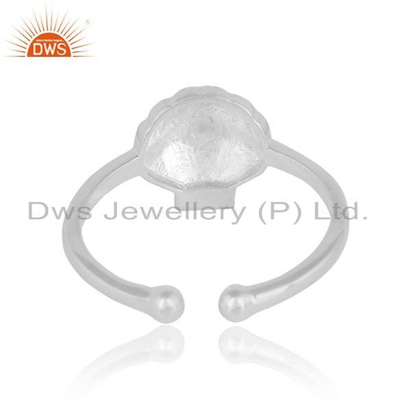 Exporter of Seashell designer handcrafted textured solid silver 925 ring