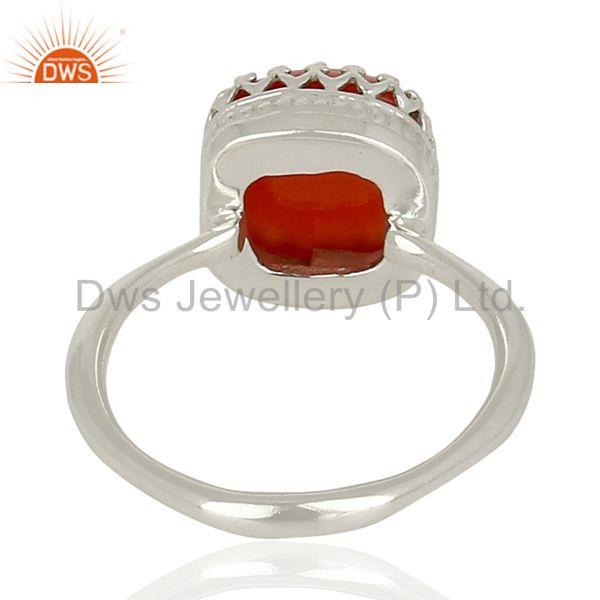 Wholesalers Carnelian Gemstone Ring 925 Sterling Fine Silver Engagement Ring