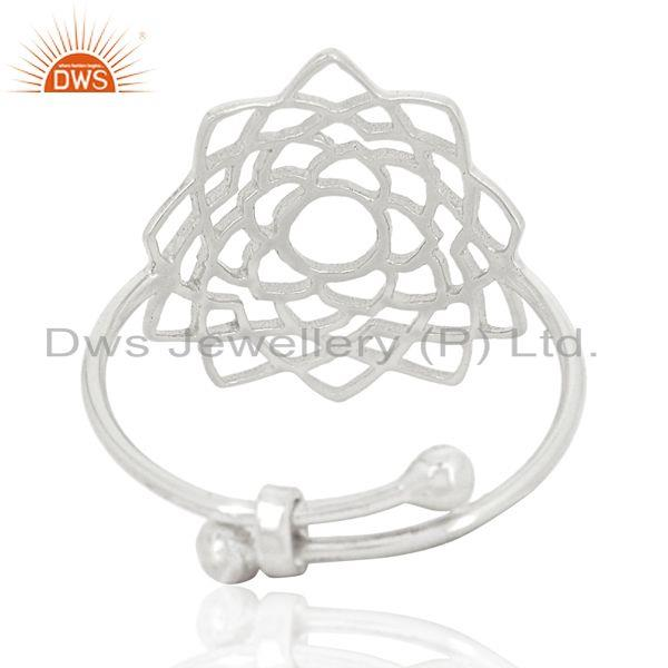 Wholesalers Fligree Design Fine Sterling 92.5 Silver Customized Ring Manufacturer in India