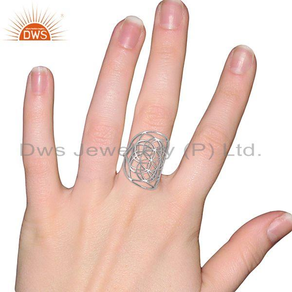 Wholesalers Customized 925 Sterling Fine Silver Cocktail Ring Manufacturer in Jaipur