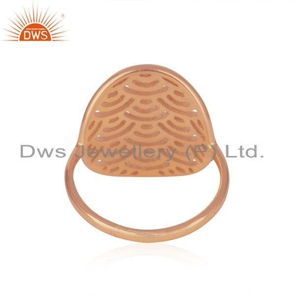 Wholesalers Rose Gold Plated Sterling Silver Designer Ring For Womens Jewelry