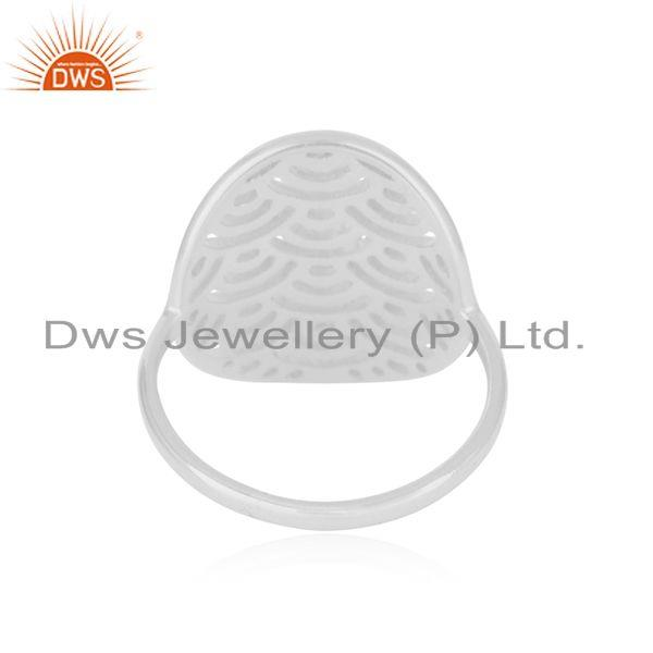 Wholesalers White Rhodium Plated Sterling Silver Designer Ring For Womens Jewelry