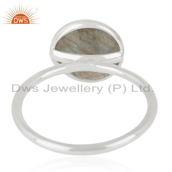 Wholesalers 925 Sterling Silver Labradorite Gemstone Stackable Ring Manufacturer India