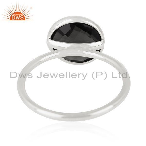 Wholesalers 925 Sterling Silver Handmade Designer Gemstone Ring Jewelry Supplier for Brands