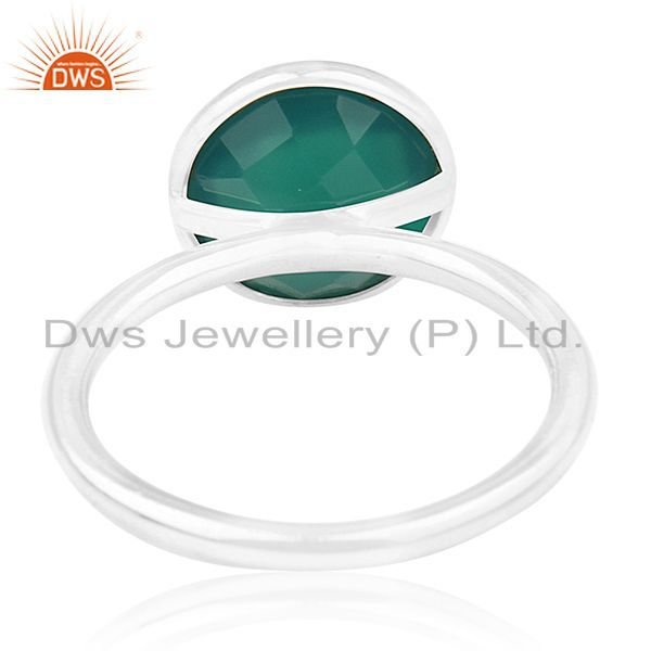 Wholesalers Green Onyx Gemstone 925 Sterling Silver Ring Wholesale Wholesalers