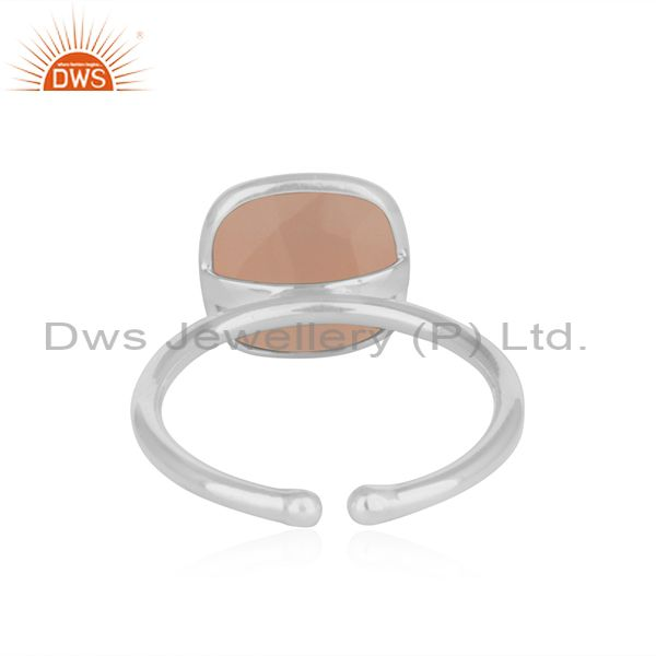 Wholesalers Handmade 925 Sterling Fine Silver Rose Chalcedony Gemstone Ring Wholesale