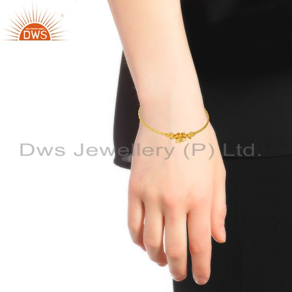 Designers Designer 18k Gold Plated Brass Fashion Handcrafted Cuff Bangle Manufacturers
