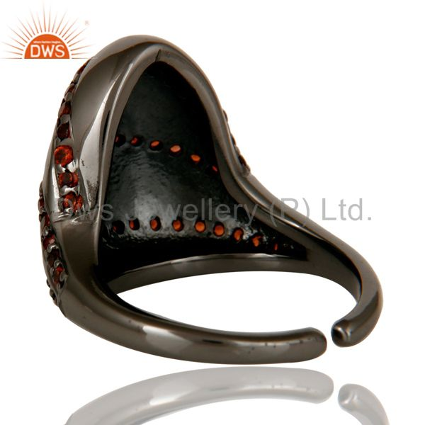 Designers 925 Sterling Silver Oxidized Handmade Fashion Style Finger Midi Ring Jewelry