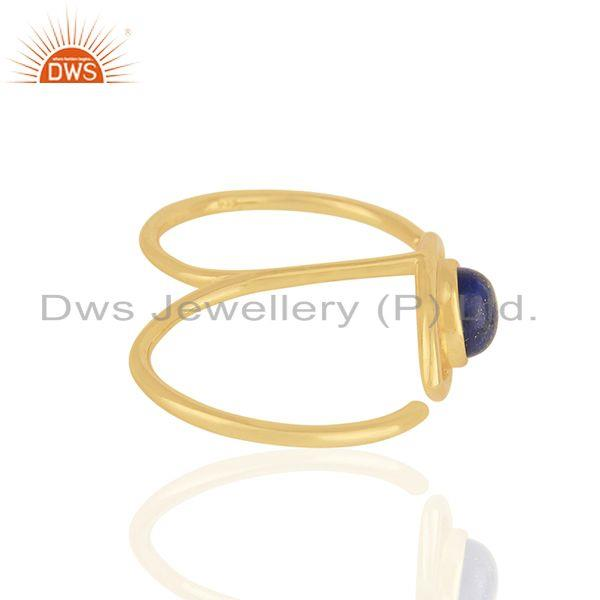 Designers Handmade 18k Gold Plated 925 Silver Evil Eye Design Multi Finger Ring