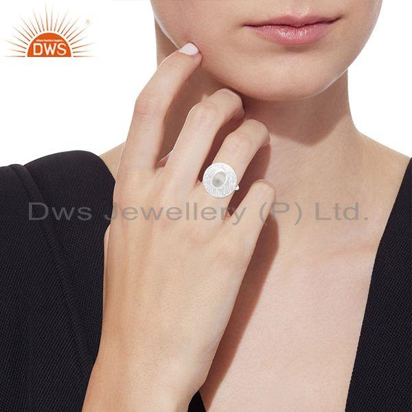 Designers Hancrafted 925 Silver Crystal Quartz Cocktail Ring Manufacturer
