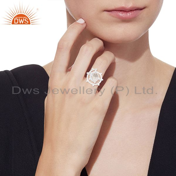 Designers Crystal Quartz 925 Sterling Silver Designer Ring Manufacturer of Custom Jewelry