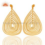 Wire Base 18K Gold Plated Fashion Earring Handmade Jewelry