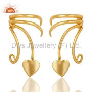 Traditional Handmade Art Brass Earrings Jewellery With 18K Gold Plated